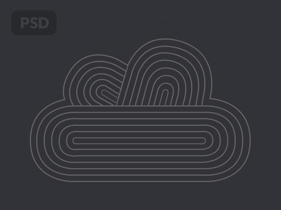 Free Cloud Shape Illustration PSD