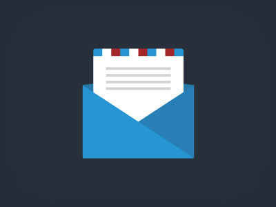 Free Flat Email Icon PSD