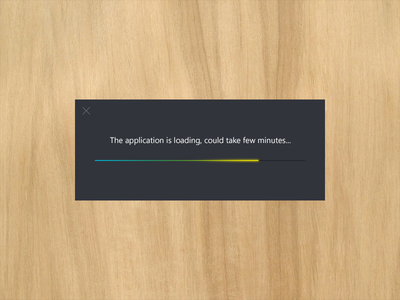 Free Loading Progress Bar PSD File