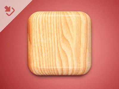 Free Wood Icon PSD Vol 2