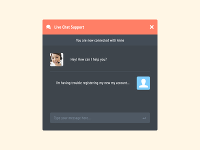 Live Chat Support PSD