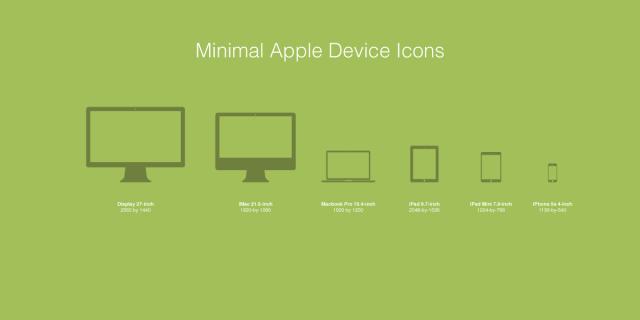 Macbook iPhone iPad - Apple Device Icons Vector