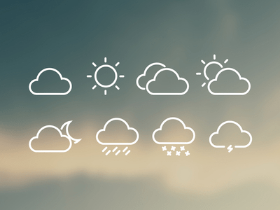 Weather Iconography Icons Vector