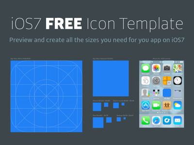 iOS 7 Icon Free Template PSD