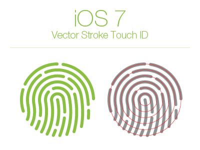 iOS 7 stroke Touch ID Vector eps