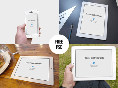 iPad & iPhone 5s Mockups Template PSD