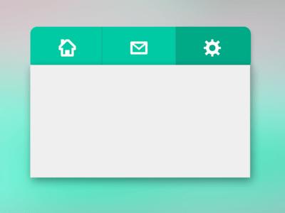 Flat Menu for App PSD