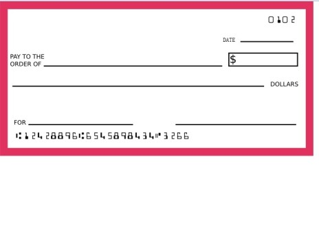 Blank Check Template Vector Art