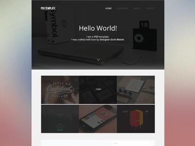 Clean Web Design PSD Template