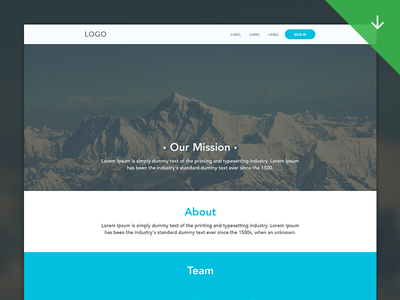 Clean Web Template PSD Download