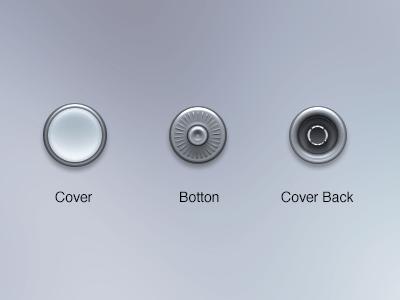Clothes Buttons PSD