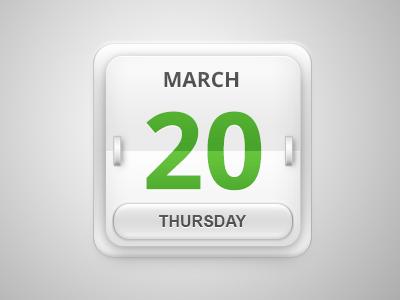 Date Flipper PSD – 3D Calendar Icon