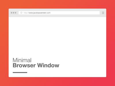 Free Minimal Browser Window PSD Template -vol 1