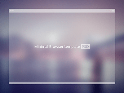 Free Minimal Browser Window PSD Template -vol 2