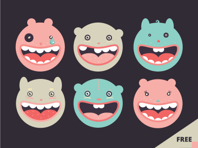 Free Monsters Vector Icons