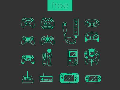 Game Set -Free joystick controller PSD