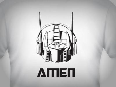 Optimus Prime T-Shirt Vector illustration