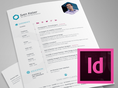 Vita / Resume Indesign Template Free Download