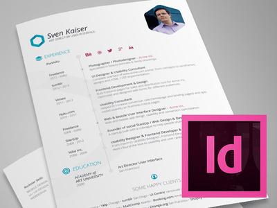 Vita Resume Indesign Template Free Download
