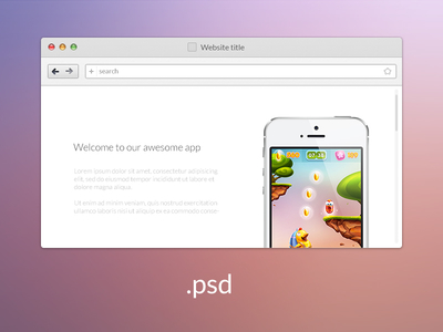 Web Brower PSD Download