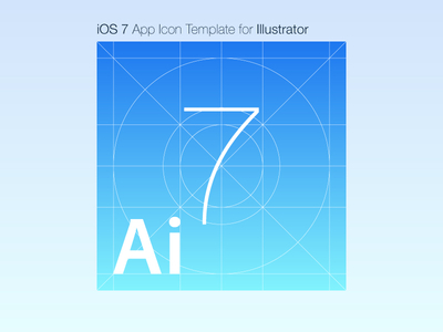iOS 7 App Icon Template for Illustrator