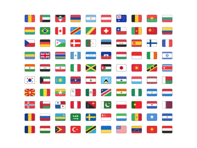 A free set of 100 flags for Sketch