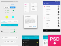 Android L UI Psd