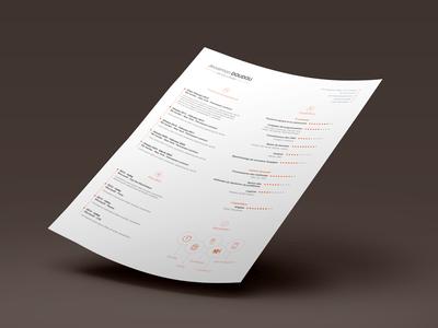 CV Design Resume Template Free PSD – VOL.1