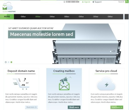 Cloud-Hosting Website Templates PSD