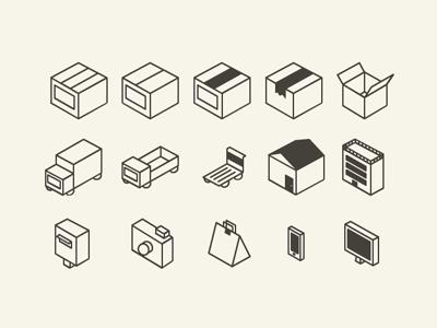 Flat 3D icon set vector ai