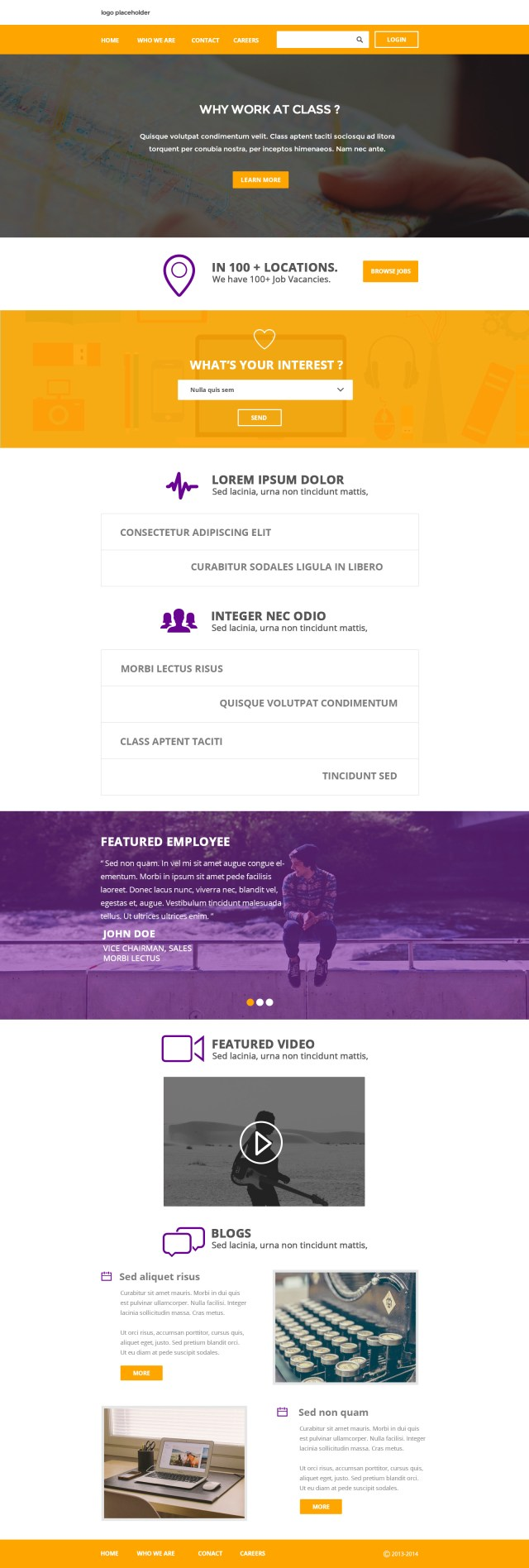 Flat Clean Corporate Layout Web Template PSD
