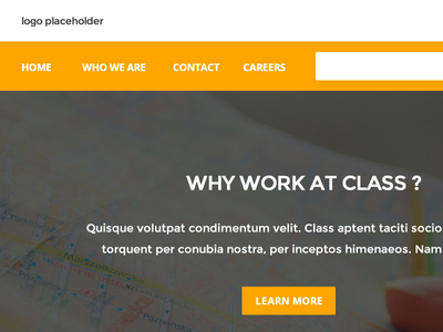 Flat Clean Corporate Layout Web Template