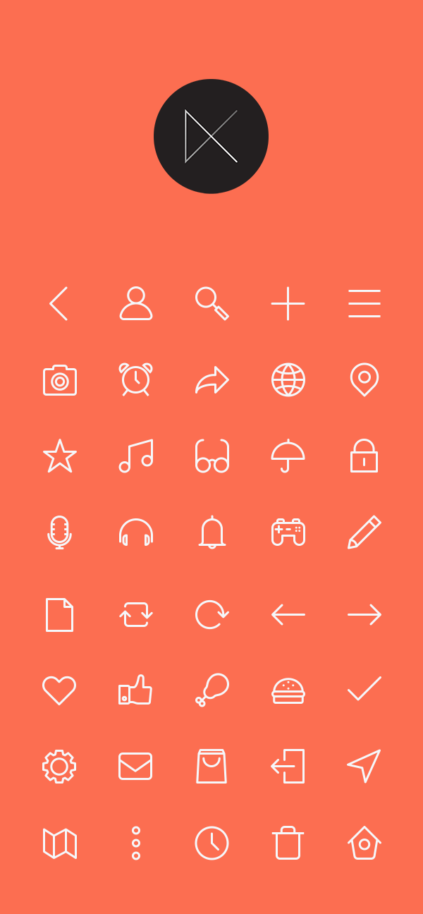 Free 40 outline icons Vector PSD - line icons