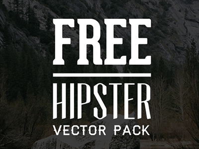 Free Hipster Graphics Vector Pack