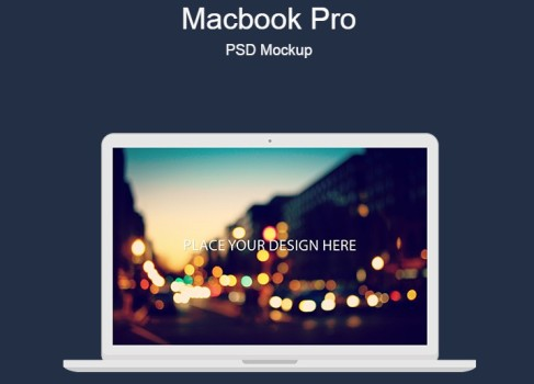 Macbook Pro PSD Mockup Free Download