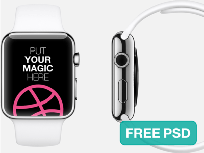 PSD Mockup:Apple Watch Free Template