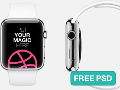 PSD Mockup:Apple Watch Free Template