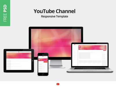 PSD YouTube Channel Responsive Template