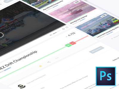 PSD Youtube Video Page Redesign Concept