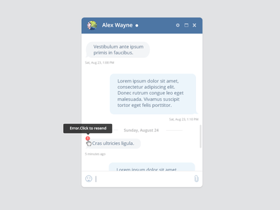 Social Quick Chat UI PSD