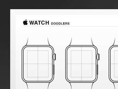 Vector Watch Doodlers Wireframe Sketch