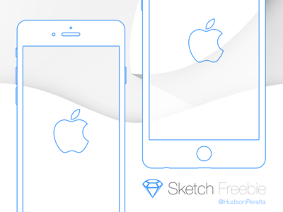 iPhone 6 & 6 Plus Wireframe sketch vector