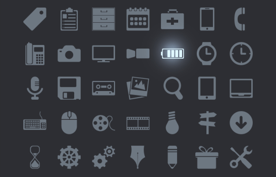 100 Commonly Used Icons