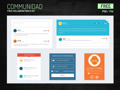 Free UI Kit for communities and collaboration apps