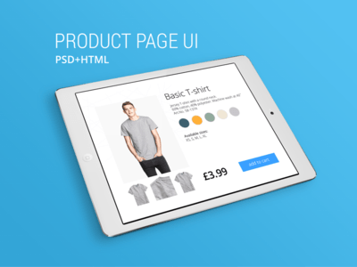 Product Page UI PSD Template (PSD & HTML)