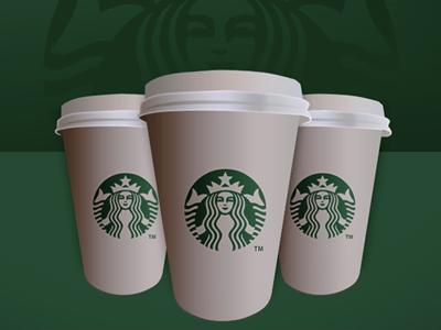 Starbucks Coffe Cup Design Icon PSD File Download