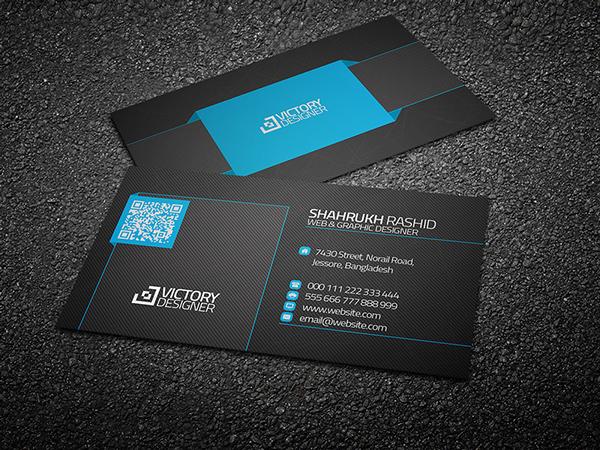 Code & Corporate Business Card PSD Template