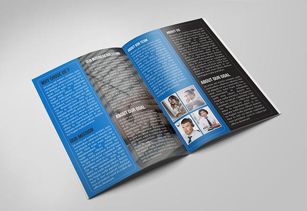 Corporate Bifold Business Brochure Template PSD