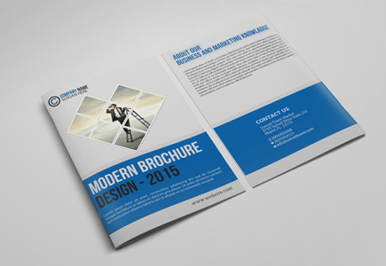 Free Corporate Bifold Business Brochure Template PSD