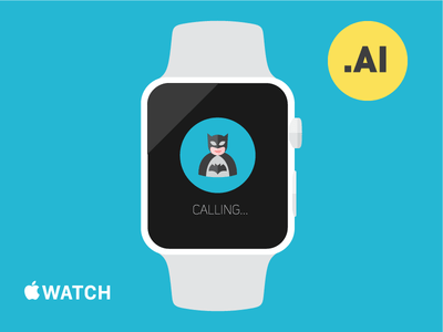 Free Vector Apple Watch Template – Illustrator